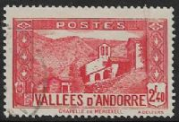 Andorra (French POs) SG F68 1942 Definitive 2f.40 used FILLER